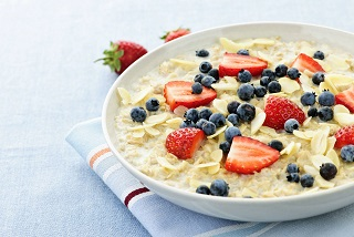 a bowl of healthy oatmeal