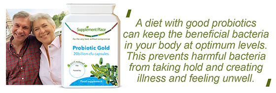 A testimonial from a customer who uses a probiotic supplement for their digestive health.
