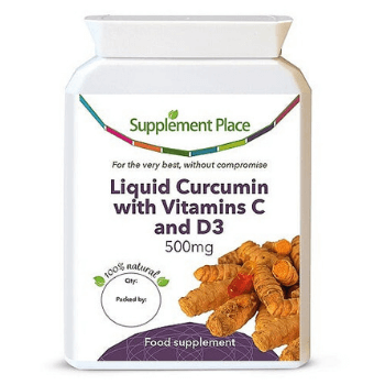 Supplement Place liquid curcumin with vitamin c and d3 supplement