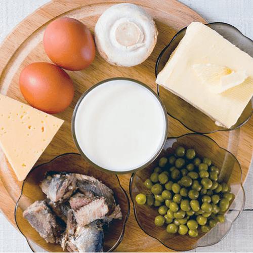 board of very healthy food full of essential vitamins