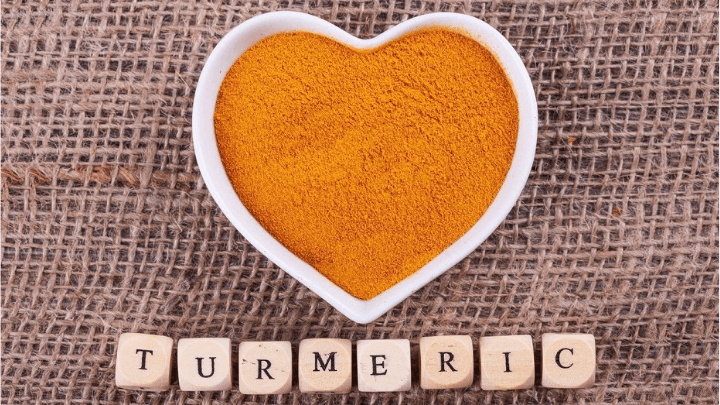 turmeric in a love heart pot