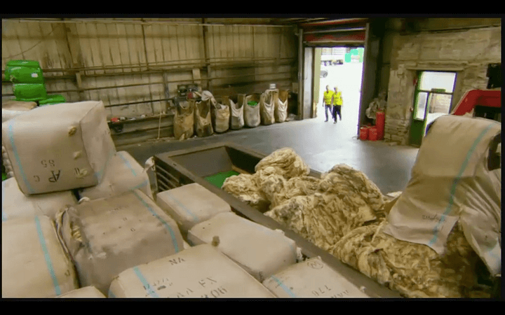 lots of sheep skin in a lanolin factory