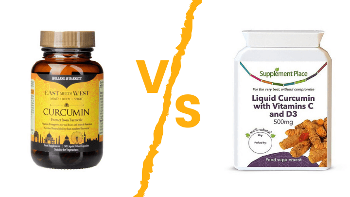 Holland and Barrett Liquid Curcumin vs Supplement Place liquid curcumin hero image