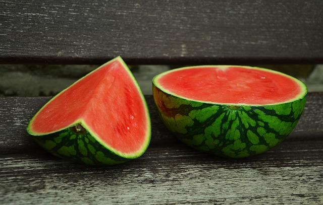 watermelon cut into segments