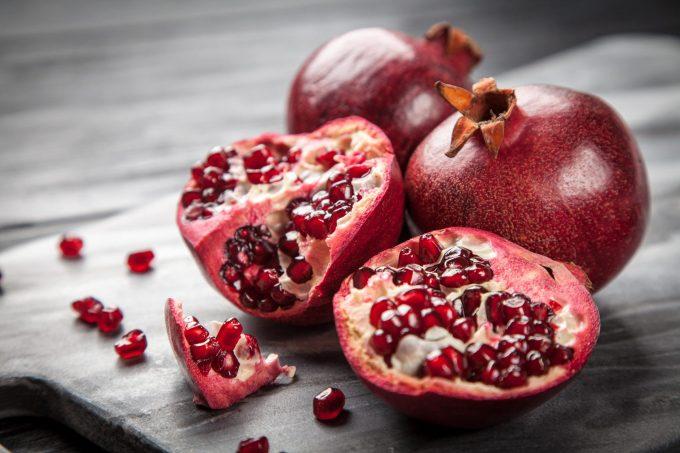 pomegranate rich in Vitamin C