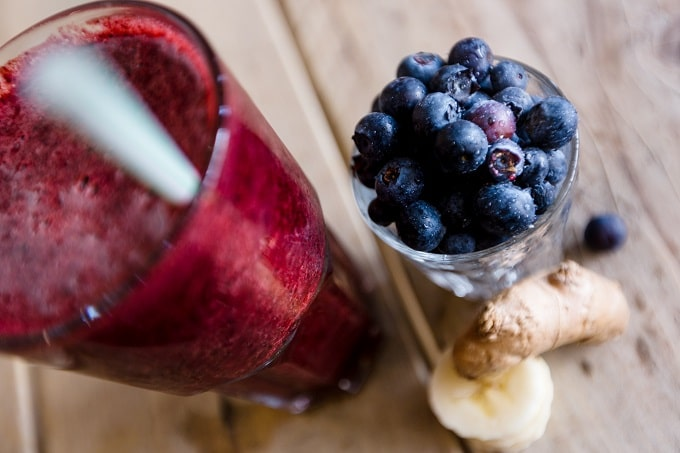 Blueberries, ginger and turmeric have anti-inflammatory beneifts to prevent muscle and joint pain caused by menopause