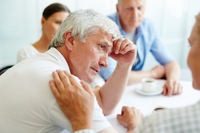 There is support available for anyone experiencing symptoms of the male menopause