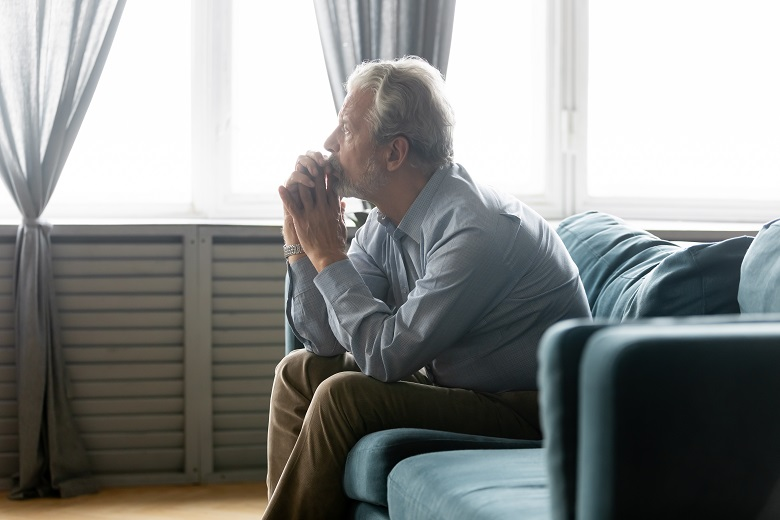 Man suffering with male menopause