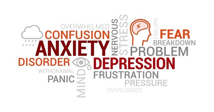 Stress and anxiety can cause physical symptoms
